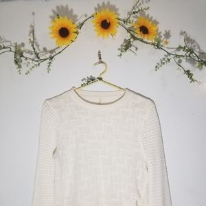 Free people knitted sweater with ruffles